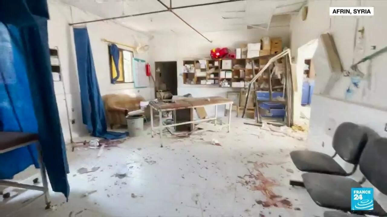 Syrian hospital destroyed in deadly shell attack in Afrin