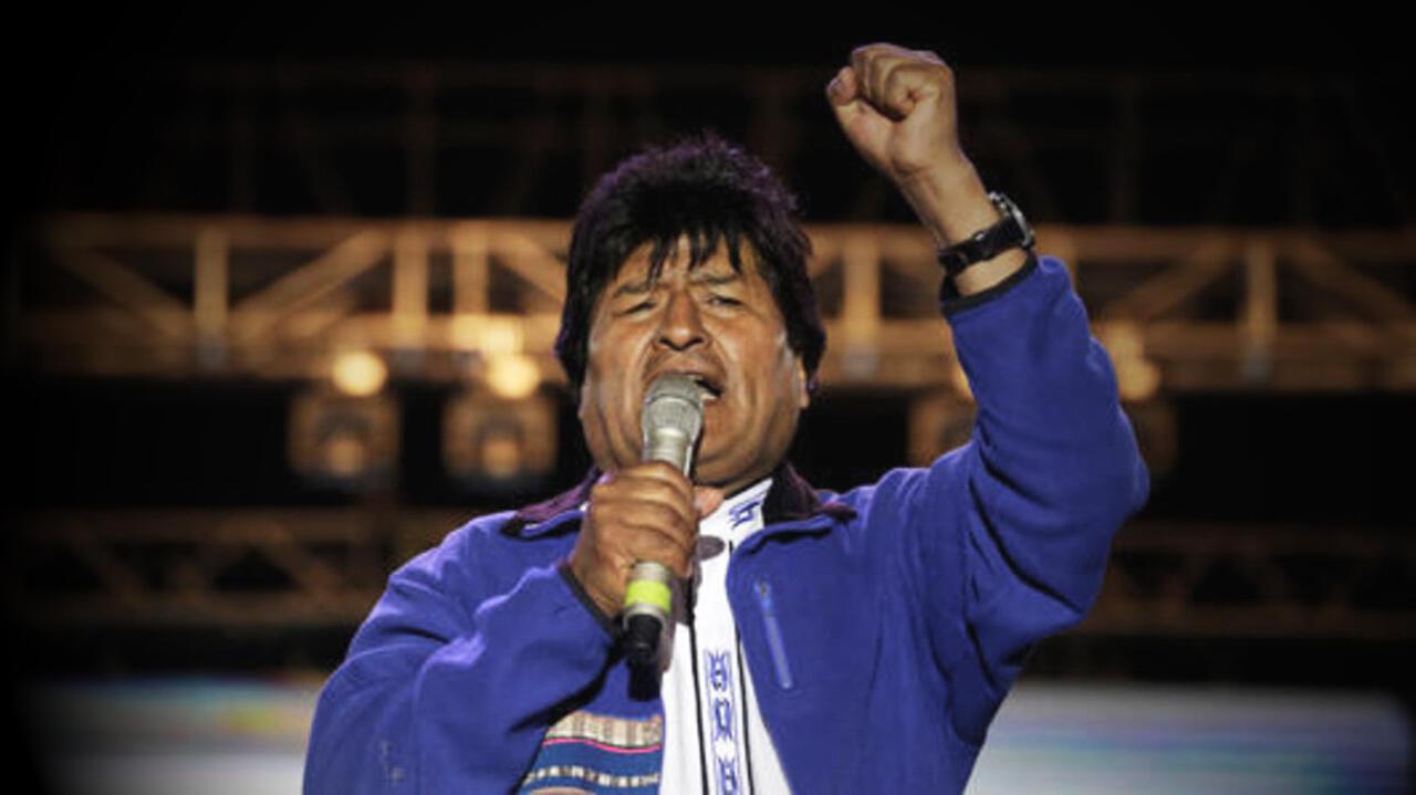 Evo Morales el 15 de octubre de 2019 en Santa Cruz.