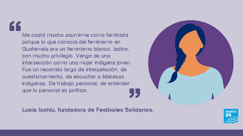 Lucía Ixchíu, guatemalteca, activista feminista, indígena y gestora cultural. Fundadora de Festivales Solidarias y Mujeres en Movimienta.