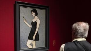 """لوحة للفنان جين شان معروضة في متحف """"Complesso del Vittoriano Musem"""" في روما"""