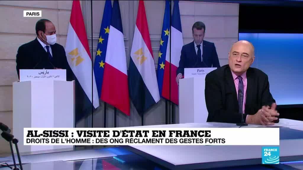 2020-12-07 16:02 Visite d'al-Sissi à Paris - Droits de l'Homme : des ONG réclament des gestes forts