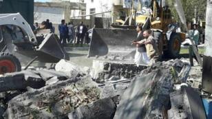 هجوم بسيارة مفخخة ضد مقر قيادة الشرطة في مدينة جابهار جنوب شرق إيران. 6 كانون الأول/ديسمبر 2018.