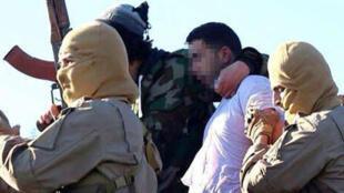 Une photo du pilote jordanien postée sur Twitter par des sympathisants de l'organisation de l'État islamique.