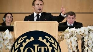 """French President Emmanuel Macron argued in his speech at the ILO that the world needed to return to a """"social market economy"""" in which everyone shared"""