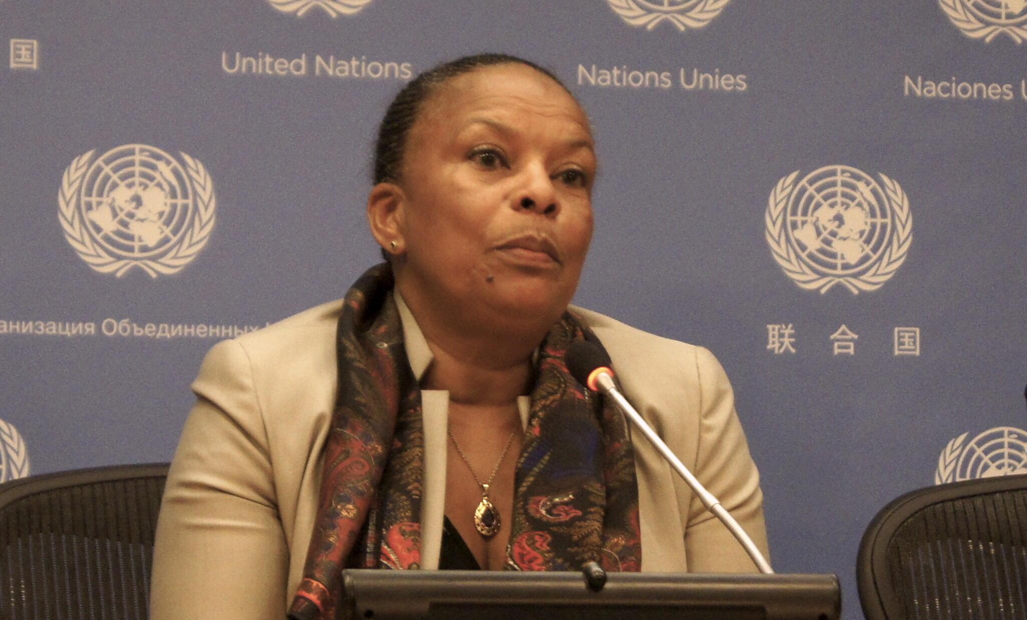 Christiane Taubira speaks at the UN on Tuesday