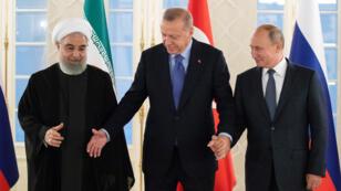 El presidente de Turquía, Recep Tayyip Erdogan, recibió a sus homólogos  Vladimir Putin y Hasan Rohani este 16 de septiembre en Ankara, Turquía.