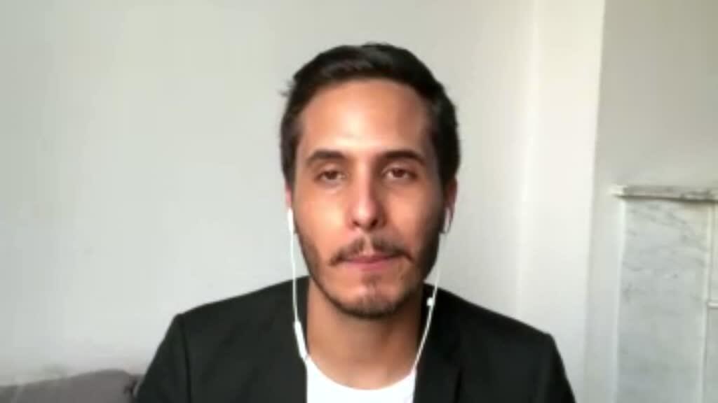 الصحافي منصف آيت قاسي، مراسل فرانس24 السابق في الجزائر.