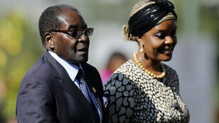 Robert Mugabe et sa femme Grace, en mai 2014.