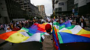Des centaines de milliers de Colombiens sont descendus dans la rue jeudi 21 novembre, à Bogota.
