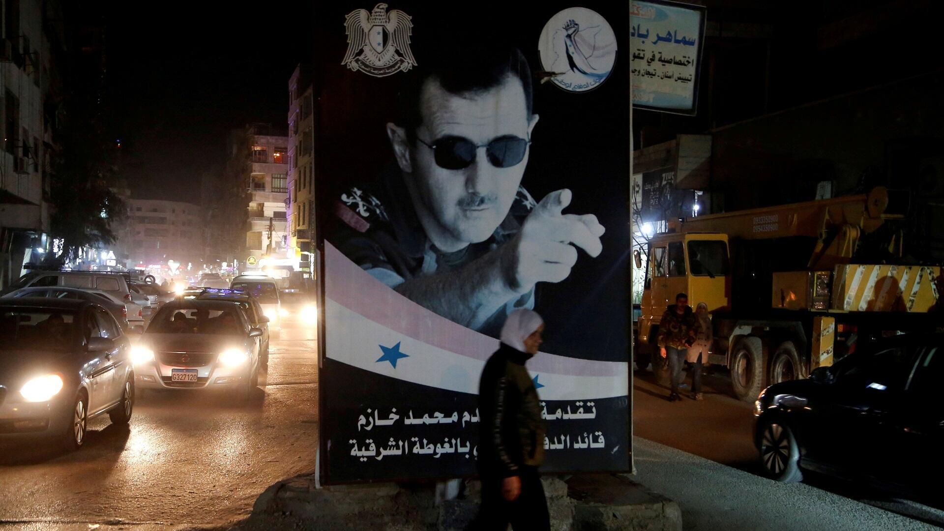 صورة للرئيس السوري بشار الأسد في دمشق، 5 مارس/آذار 2020.
