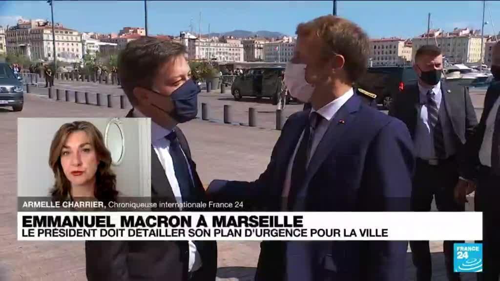 2021-09-02 10:04 Emmanuel Macron à Marseille : le président doit détailler son plan d'urgence pour la ville