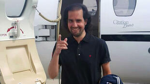 Shahbaz Taseer peu après avoir retrouvé la liberté, le 8 mars 2016.