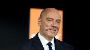 Stéphane Richard PDG d'Orange lors de la présentation des résultats annuels à Paris le 13 février 2020