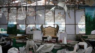 قاعة حفل الزفاف بعد التفجير الانتحاري 17 آب/أغسطس 2019