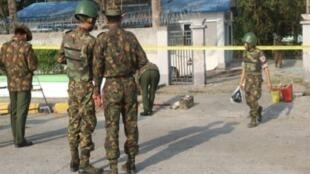 انفجارات في سيتوي كبرى مدن ولاية راخين بغرب بورما في 24 شباط/فبراير 2018