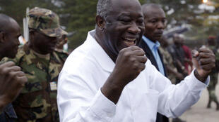 L'ancien président ivoirien Laurent Gbagbo à Abidjan, le 19 septemberer 2005.