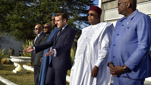 French President Emmanuel Macron and his counterparts from the G5 Sahel group of nations gathered in Pau on January 13, 2019.