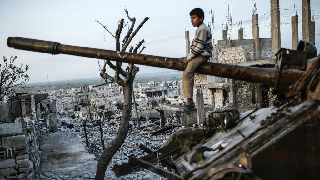 آثار الدمار الناجم عن النزاع الدائر في سوريا
