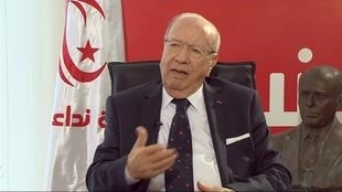 Béji Caïd Essebsi, candidat au second tour de l'élection présidentielle tunisienne.