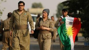 Ciudadanos kurdos ven el referendo como una oportunidad histórica para alcanzar su independencia September 21, 2017.