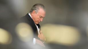 Le président brésilien Michel Temer en février 2017 à Brasilia.