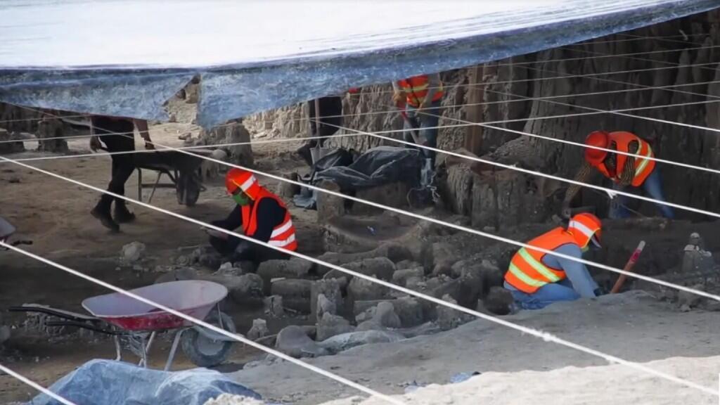 El área con restos arqueológicos ocupa un 1% de la superficie de construcción del nuevo Aeropuerto Internacional de México.