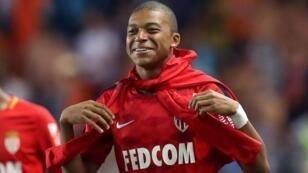 Kylian Mbappé, de 18 años, tras una brillante victoria de su club de Mónaco frente al OM (6-1), el 27 de agosto.