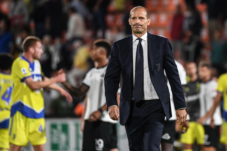 Il tecnico della Juventus Massimiliano Allegri dopo la vittoria a La Specia del 22 settembre 2021