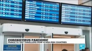 2020-07-29 11:04 French airports begin virus testing of at-risk arrivals