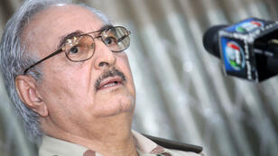 Former army general Khalifa Haftar, whose forces launched an assault on Benghazi Wednesday
