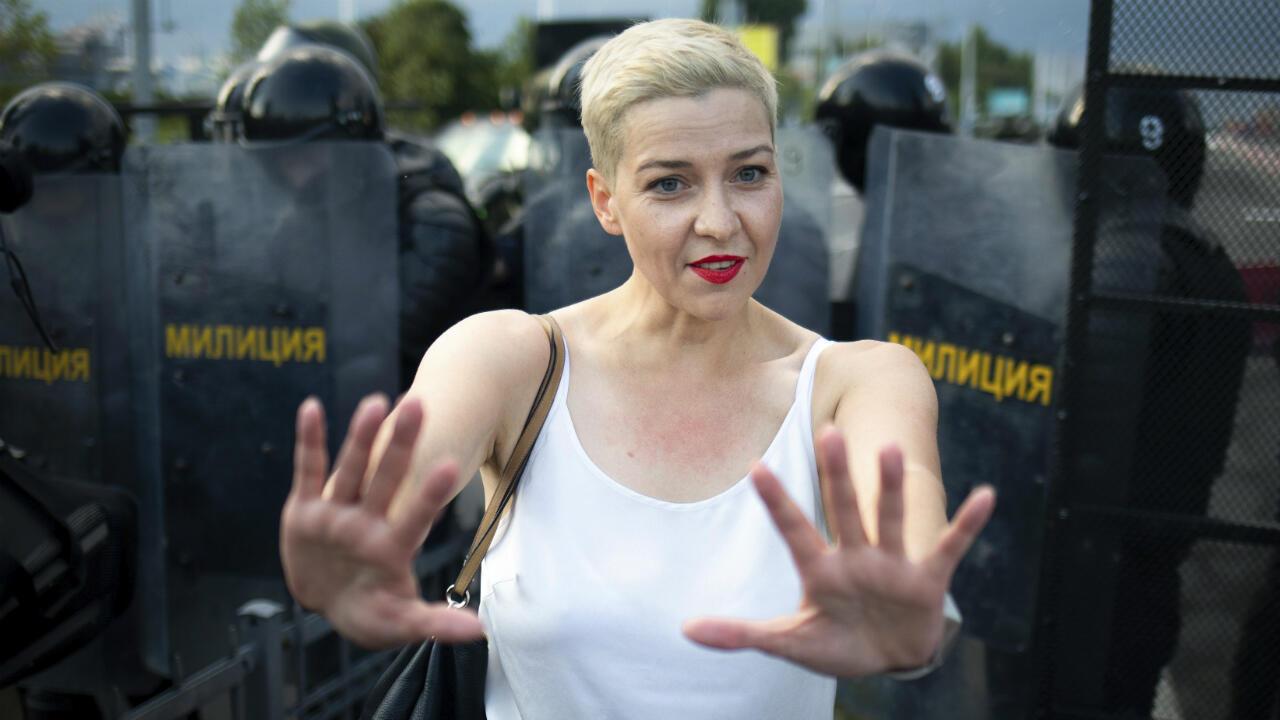 L'opposante biélorusse Maria Kolesnikova lors d'une manifestation à Minsk, le 30août2020.