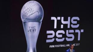 Cristiano Ronaldo lors de la remise du prix Fifa, le 23 octobre 2017.