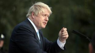 El primer ministro británico, Boris Johnson, pronuncia un discurso durante una visita a West Yorkshire, Reino Unido, el 5 de septiembre de 2019.