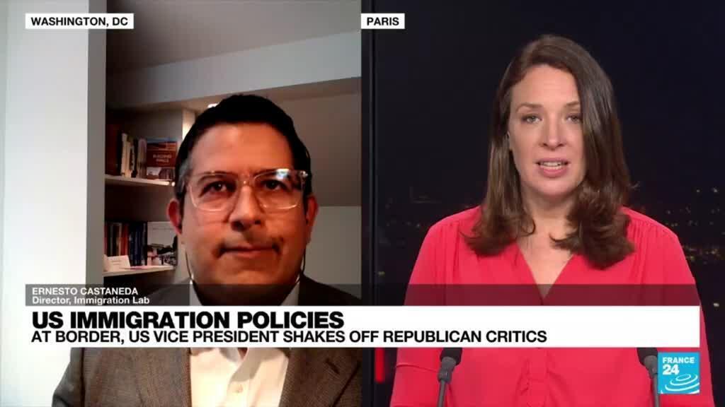 2021-06-25 21:11 US immigration policies: K. Harris visits processing center at US Mexico border