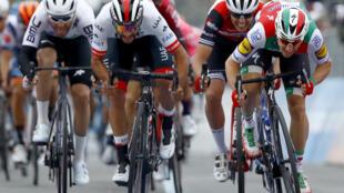 Team UAE Emirates rider Colombia's Fernando Gaviria looks on fine form after his recovery from coronavirus