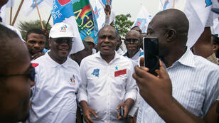 Le candidat unique de l'opposition en RD Congo, Martin Fayulu, à Kinshasa, le 26 octobre 2018.