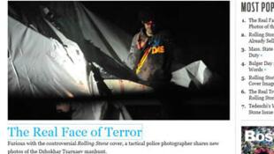 Capture d'écran du site du Boston Magazine