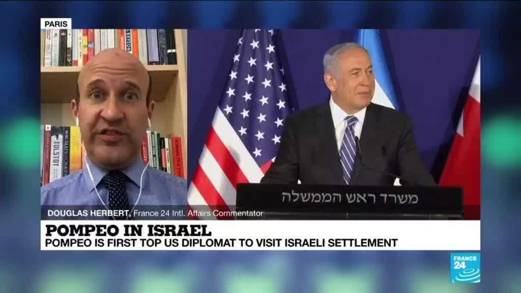 2020-11-19 15:01 Pompeo in Israel, first top US diplomat to visit Israeli settlement