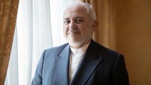 Le ministre iranien des Affaires étrangères, Mohammad Javad Zarif, lors d'un entretien avec l'Agence France-Presse (AFP) à la résidence de l'ambassadeur d'Iran à Paris, le 23 août 2019.