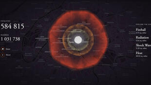 L'effet d'une bombe nucléaire sur Paris.