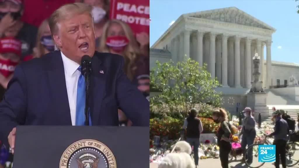 2020-09-25 09:10 Trump blasted for suggesting he might not honor vote