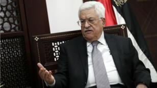 Le président de l'Autorité palestinienne, Mahmoud Abbas, le 11 avril 2016 à Ramallah en Cisjordanie.