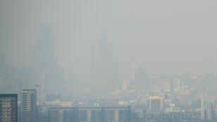 Une vue très pollué de Londres début avril 2014.