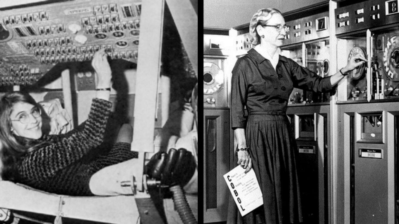 Margaret Hamilton (à gauche) et Grace Hopper (à droite), deux pionnières du code informatique et du monde de la tech.
