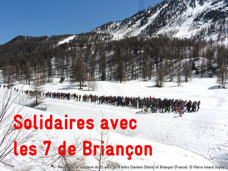 Pierre Isnard Dupuy, La Cimade | The April 22, 2018, solidarity march in which locals and activists escorted migrants across the French-Italian border in the Alps