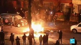 2021-01-26 11:03 Dutch police use tear gas, water cannons after third night of violent riots against Covid-19 curfew
