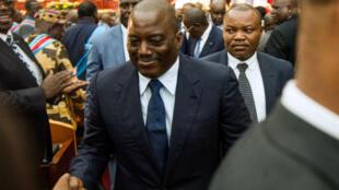Le président Joseph Kabila, lors d'un congrès en novembre 2016.