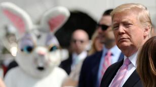El presidente Donald Trump participa de la celebración de los huevos de Pascua típicos de Semana Santa en la Casa Blanca