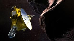 Illustration artistique de la sonde New Horizons.
