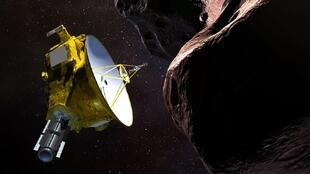 Illustration artistique de la sonde New Horizons.